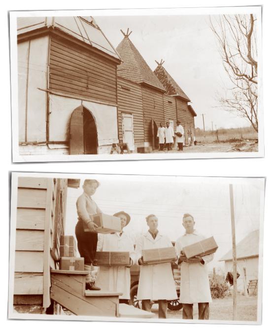 The original smokehouses