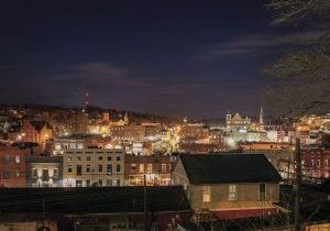 Staunton, VA by night